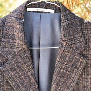 NW Hickey Freeman Plaid Sport Coat Made USA, 38 SH